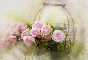 Watercolor Roses And Basket 2144246 1920
