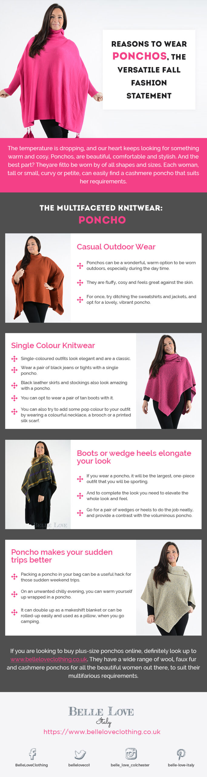 Infographic Reasons To Wear Ponchos